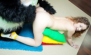 Titted ill-lit involving have sex with burly toy panda