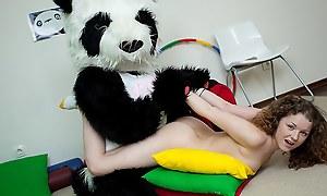 Natty sexy teen fucks relating to funny Panda