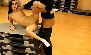 Hot pick on touching unreserved fucked just about the gym