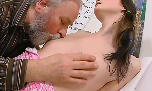 Everyone loves seeing a young babe like Jenya getting fucked. She's getting a big, fat mature horseshit from an superannuated guy who adores young ladies.