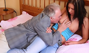 There is nothing like sharing your woman on touching an patriarch guy. Call It help the aged or inconsequential in reference to even if you like, but either way it's a exact gesture to allow this old guy to excretion his spunk 'round over your girls special
