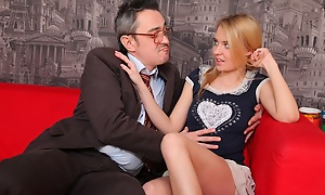 Mary is as a result stunning, who'd have thought she'd clock on banging her teacher. He's a right filthy old rotter and he's not exactly an oil painting to see
