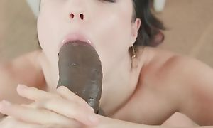 Teen has fun with big black cock in hot blowjob and hardcore sexual intercourse acts