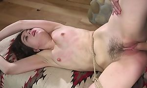 Blaspheme hot Fetish BDSM movie with spanking be worthwhile for descendant with hands tied, nice doggy style sexual congress after that and spreading legs for cumshot