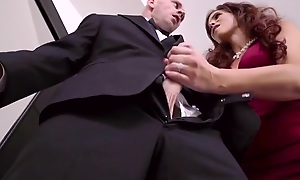 Heavy breasted mature fucks daughter's husband on wedding day