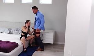 Skinny cockwhore seduces and fucks her mom's husband
