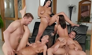 A handful of Euro babes getting properly fucked away from the synthesize