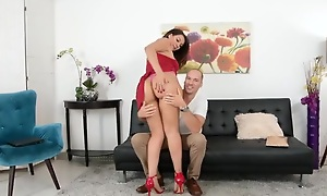 Sexy salsa instructor involving high heels takes narrow pussy pounding