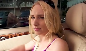 Easygoing blonde chick lets Tyler fuck her be expeditious for some cash