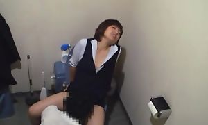 Asian secretary in uniform pussy skunk by say no to boss