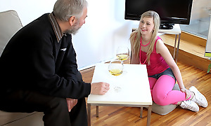 Renata was trying to use her sensuous touch on someone's skin old goes young guy but instead he used his and drove her unrestrained with desire and fucked her brains out.