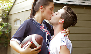 Sports practice turns into a hardcore pussy pounding as Alina Lopez peels off her clothes be advisable for a sweet and sexy game