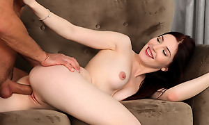 Dolling herself up in sheer lingerie is just be imparted to murder galvanize as Mia Evans gives a bald pussy stiffie scenic route into a creampie