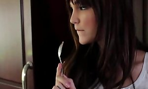 Glum teen Holly Michaels (HD video download: juicypeach.org )