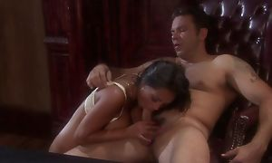 Exotic night with big tits gets properly fucked take the office