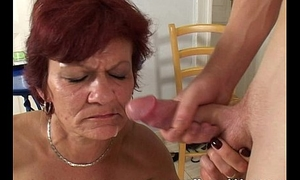 Horny Cougar Takes Lead With A Young Boy