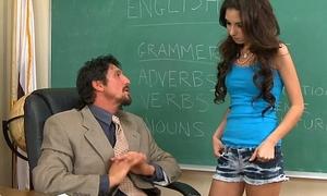 Small titted schoolgirl Trinity St. Clair fucking teacher
