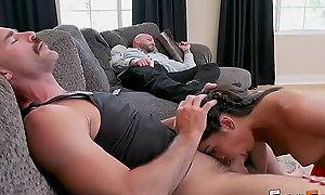 FILTHY FAMILY - Precious Teen Emily Willis Fucks Portray Dad plus Portray Uncle