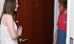 Teenpies - legal age teenager receives creampied wits her mom's bf
