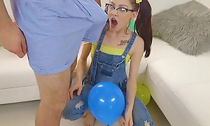 Exxxtrasmall - playful in force age teenager receives tight cookie fucked