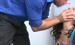 Rough sexual relations in this naughty tryst between a horny officer added to a stick-up man teen.