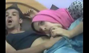 Arab Teen Sucks Obese Cock