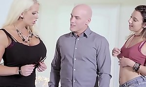 MILF Alura Jenson Loves Being Surprised By Hubby and Teen Mistress