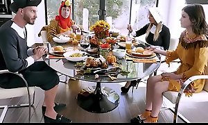 Hot MILF Step Mom Brooklyn Chase And Step Son Join Teen Step Daughter Rosalyn Sphinx And Step Dad Be expeditious for Family Thanksgiving Fuck Fest
