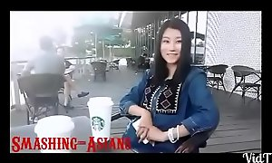 Wmaf japanese legal stage teenager receives a large sallow 10-Pounder
