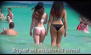 Be enduring see teen PAWG surrounding a thong bikini on the beach surrounding public!