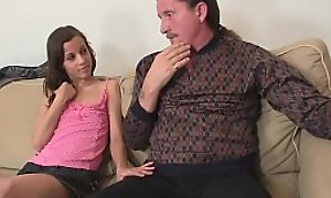 He finds mature couple and teen thither family orgy
