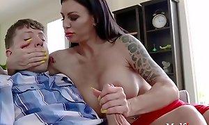 Hot Busty Brunette Milf Seduces Teen- Melissa Lynn