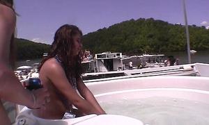 awesome boat hot tub naked strip girls take missouri