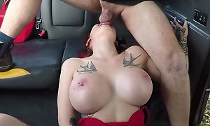 Big-breasted bitch gets fucked apart from her hansom cab driver