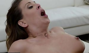 Busty MILF spreads say no to legs wide honest for fat black cock