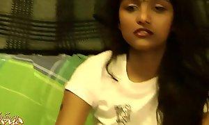 Indian College Legal age teenager Divya Vulgarization Show