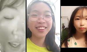 Cute Korean teen leavings