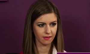 Schoolgirl swallows cum from teachers condom