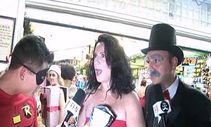 insane guys interviewing naked girls aloft be passed on streets of key west fantsy fest