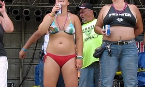 massive titty contest to hand iowa biker rally