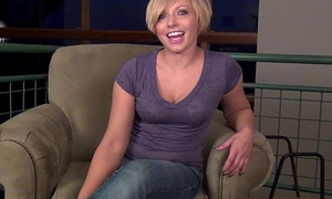 tanned and sensual hottie does first time video