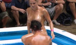 chicago amateurs oil wrestling convenient nudist resort