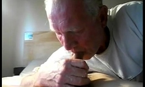 Old Old man Sucking His Grandson'_s Horny Dick