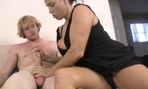 Teen With the addition of Milf Double Handjob