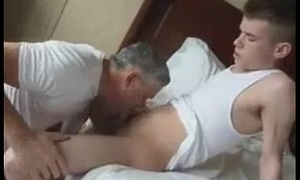 Daddy Sucking Huge Old bean Cock
