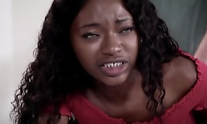 Ebony teen tries anal for the pre-eminent period
