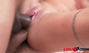Teen Stunner Silvia Dellai Rough Anal Treatment and Pissing with Double Concentratedly