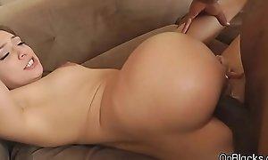 Spicy petite Sara Luvv'_s beamy dark cock anal
