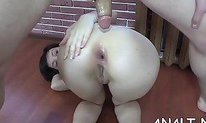 Uncensored rear slamming