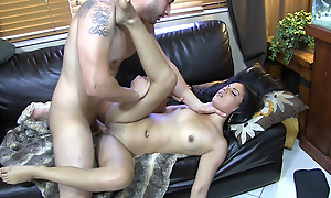 Cock-smacked increased by fucked raw